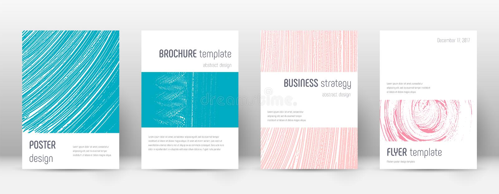Cover page design template. Minimalistic brochure. Layout. Classy trendy abstract cover page. Pink and blue grunge texture background. Precious poster vector illustration
