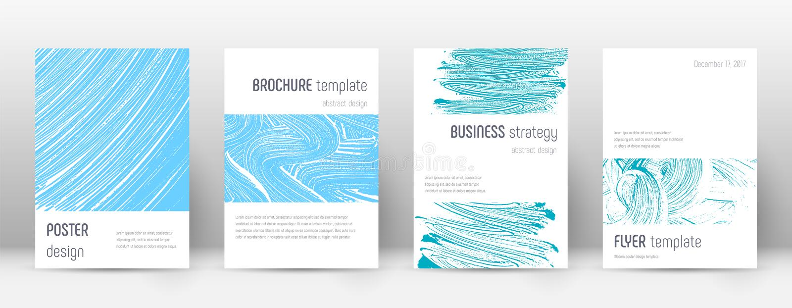 Cover page design template. Minimalistic brochure. Layout. Classy trendy abstract cover page. Pink and blue grunge texture background. Ideal poster vector illustration