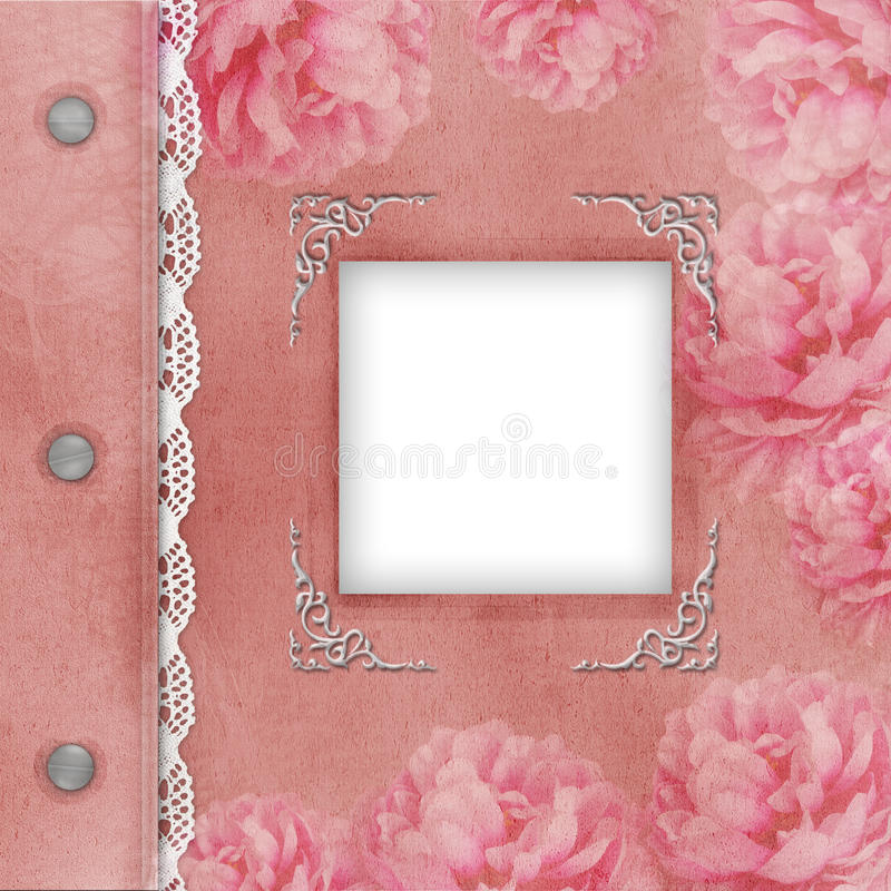 Download Cover Of Pink Album For Photos Stock Illustration - Illustration: 24359588