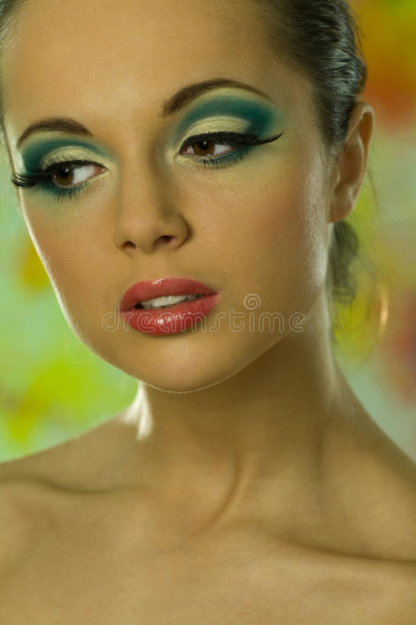 Cover portrait of beautiful model royalty free stock images