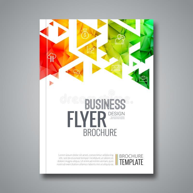 Cover report colorful triangle geometric prospectus design background, cover flyer magazine, brochure book cover vector illustration