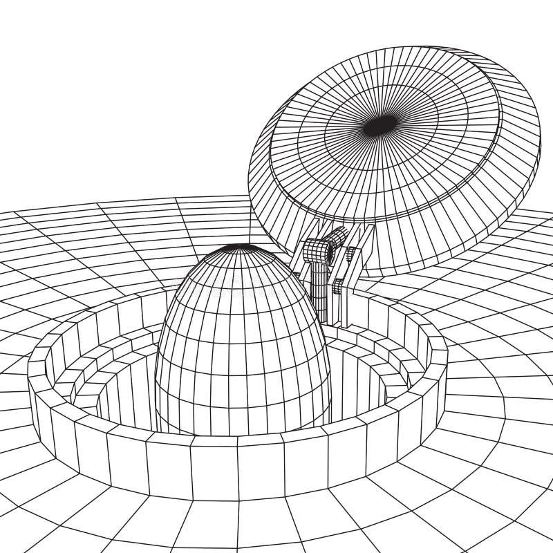 Cover rocket silo vector illustration