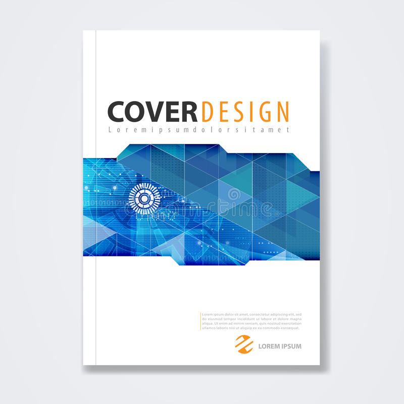 Cover Template Brochure Template Layout For Technology Concept - Technology brochure template
