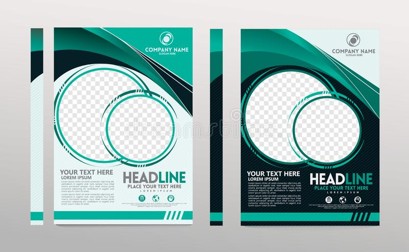 Cover template a4 size. Business brochure design. Annual report cover. Vector illustration stock illustration