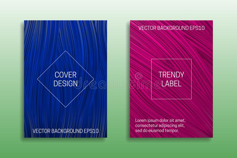 Cover templates of saturated color. Trendy blue and pink brochures backgrounds royalty free illustration