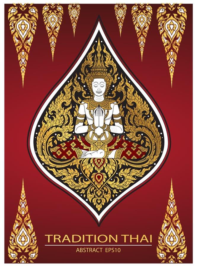 Cover tradition thai Buddha Jewelry Set royalty free illustration