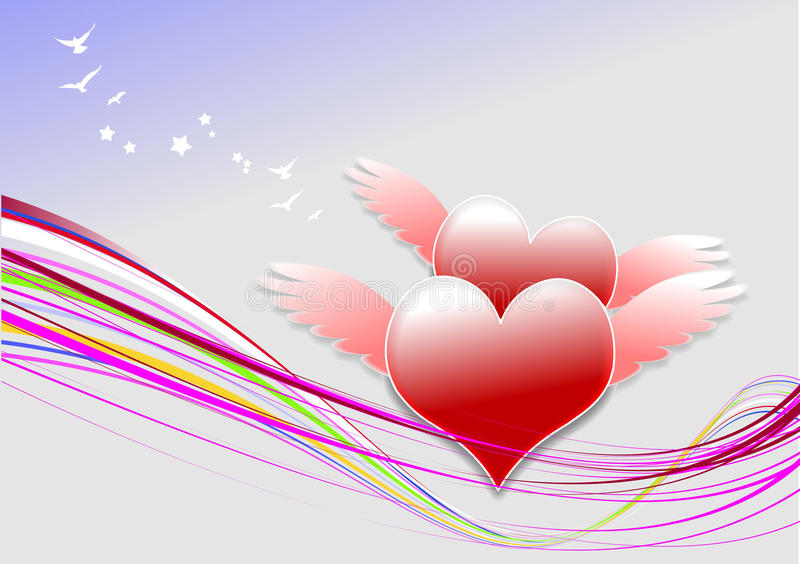 Cover for Valentine`s Day royalty free stock photos