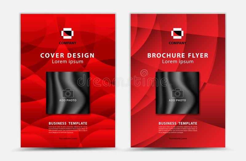 Cover vector template design, business brochure flyer, annual report, mgazine ad, advertisement, book cover layout, poster royalty free illustration