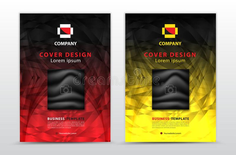 Cover vector template design, business brochure flyer, annual report, mgazine ad, advertisement, book cover layout, poster stock illustration