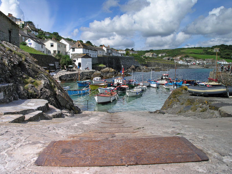 Coverack Harbour 2 royalty free stock photo