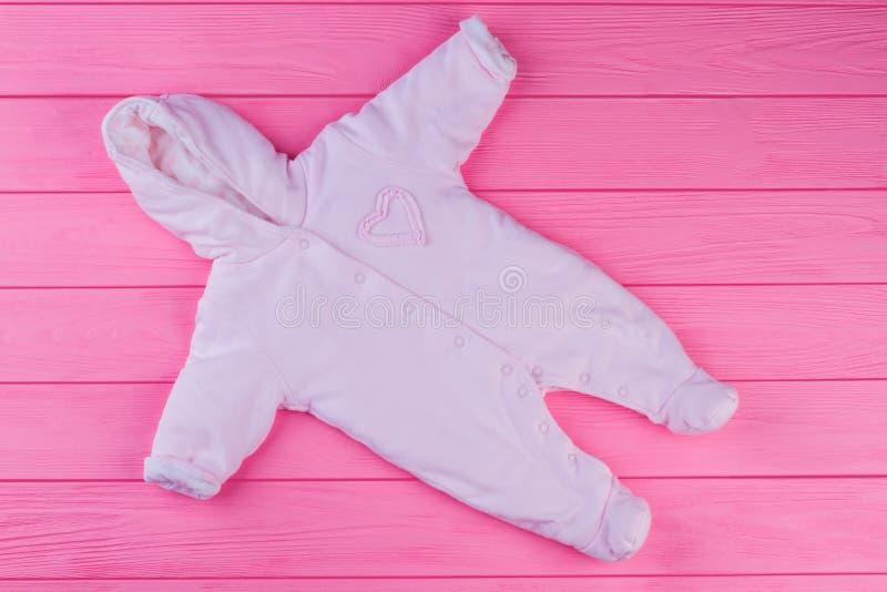 Coverall ватки ребенка, взгляд сверху стоковое изображение rf