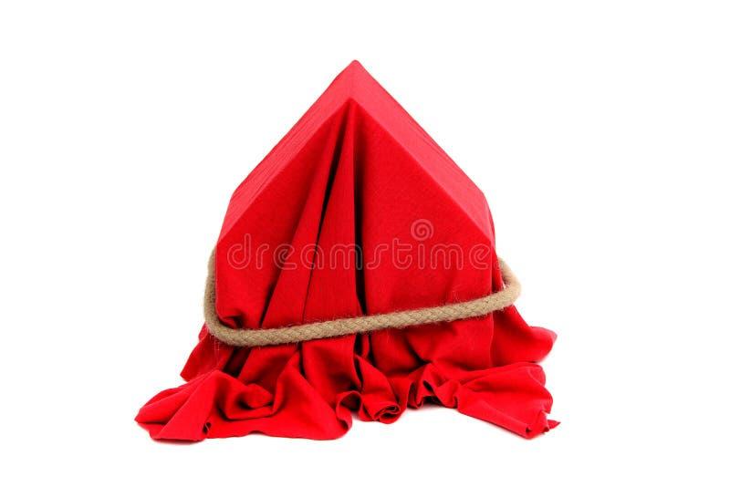 Coverd da casa com drapery vermelho imagens de stock royalty free