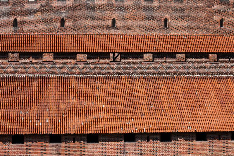 Covered Battlements of Malbork Castle royalty free stock photos