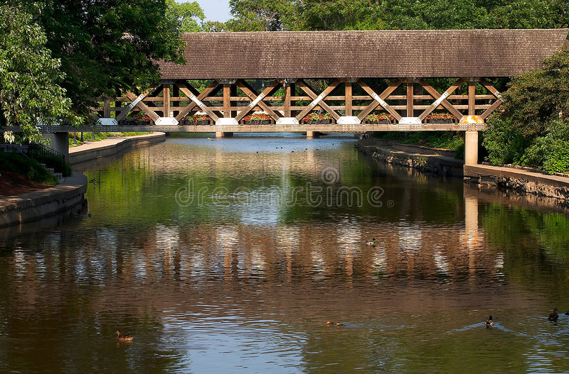 Covered Bridge. Over the DuPage River in Naperville, IL