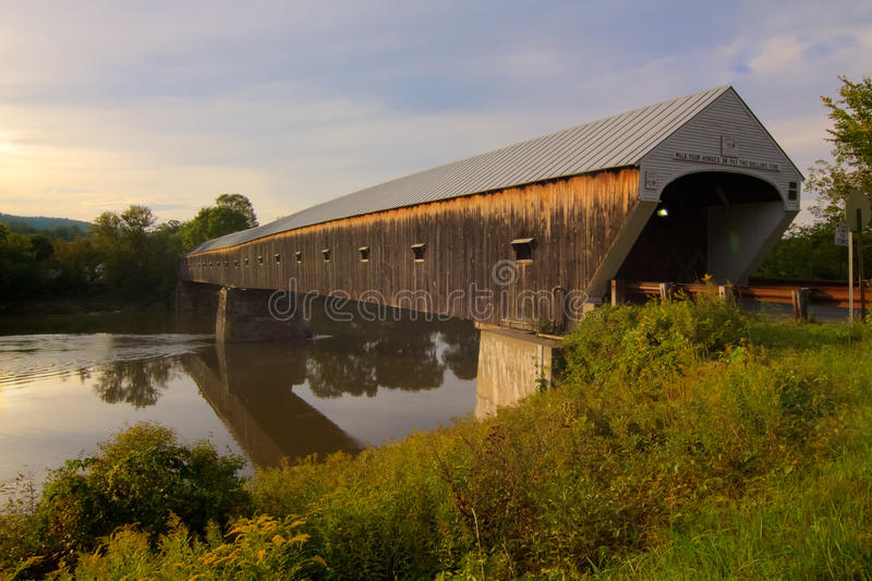 Download Covered Bridge stock image. Image of river, hampshire - 21095673
