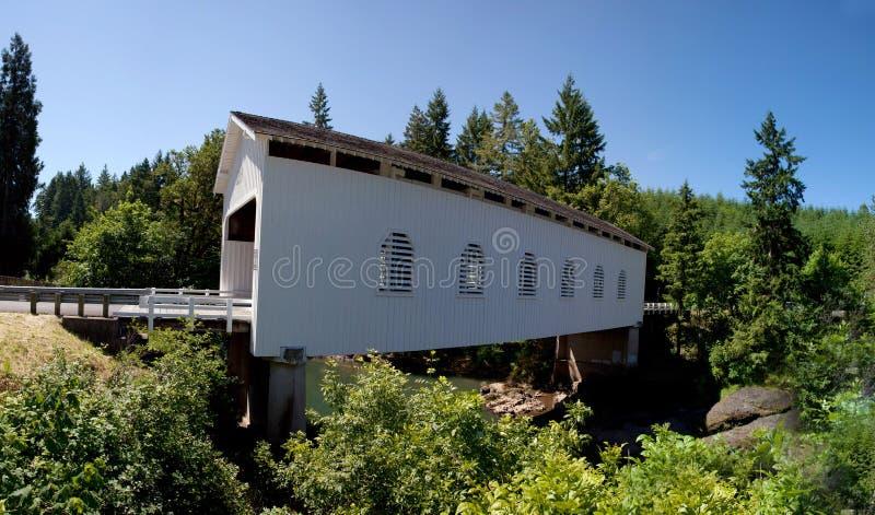 Covered Bridge. A wooden covered bridge around the Cottage Grove Area of Oregon USA America stock photos