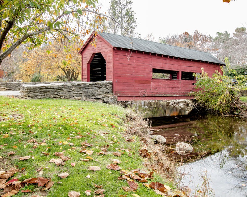 Covered bridge. In frederick , Md at baker park royalty free stock image