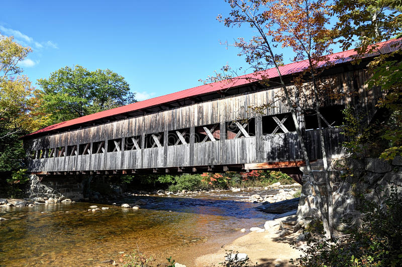 Covered Bridge, New England stock photography