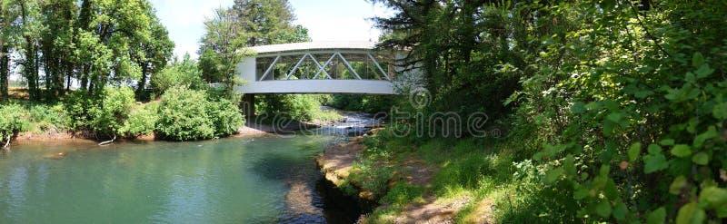 Covered Bridge Panorama - Oregon royalty free stock photos