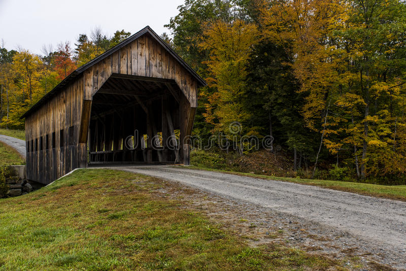 Covered Bridge in Vermont royalty free stock photography