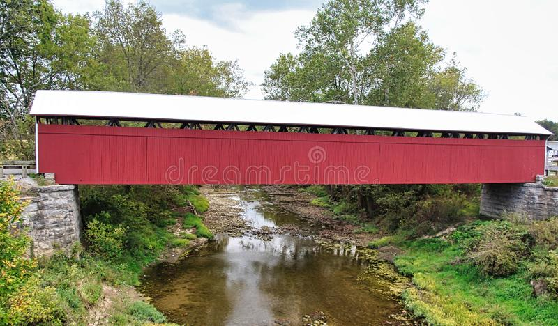 Covered Bridges of Southern Indiana. Indiana has a number of covered bridges in the southern part of the state royalty free stock image