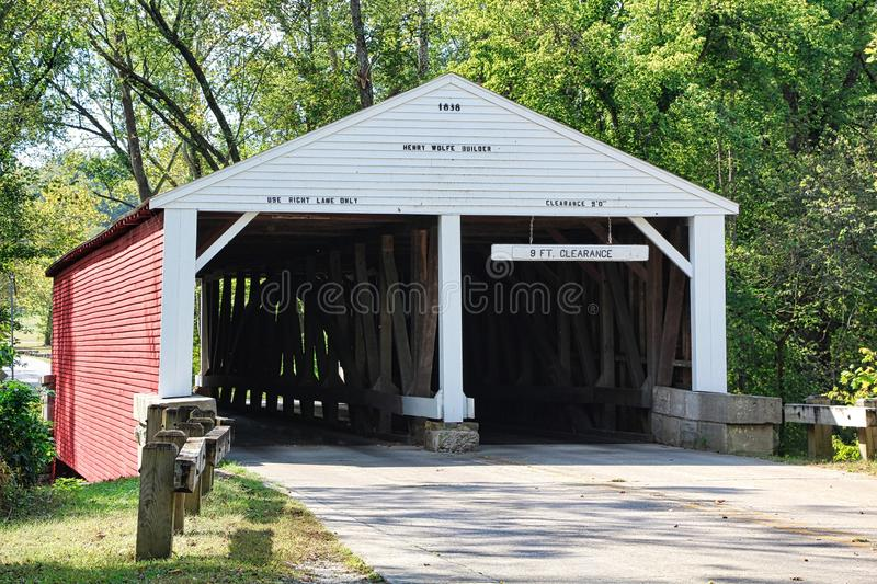 Covered Bridges of Southern Indiana royalty free stock image