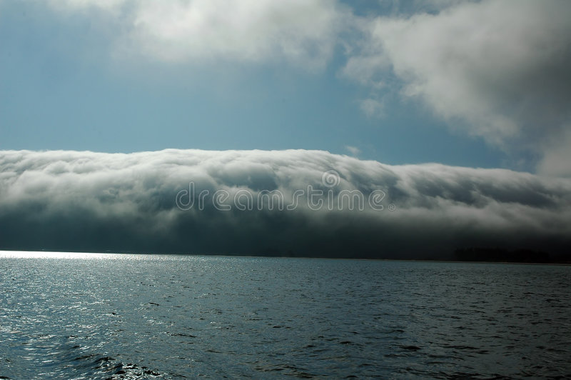 Covered by the clouds. royalty free stock image