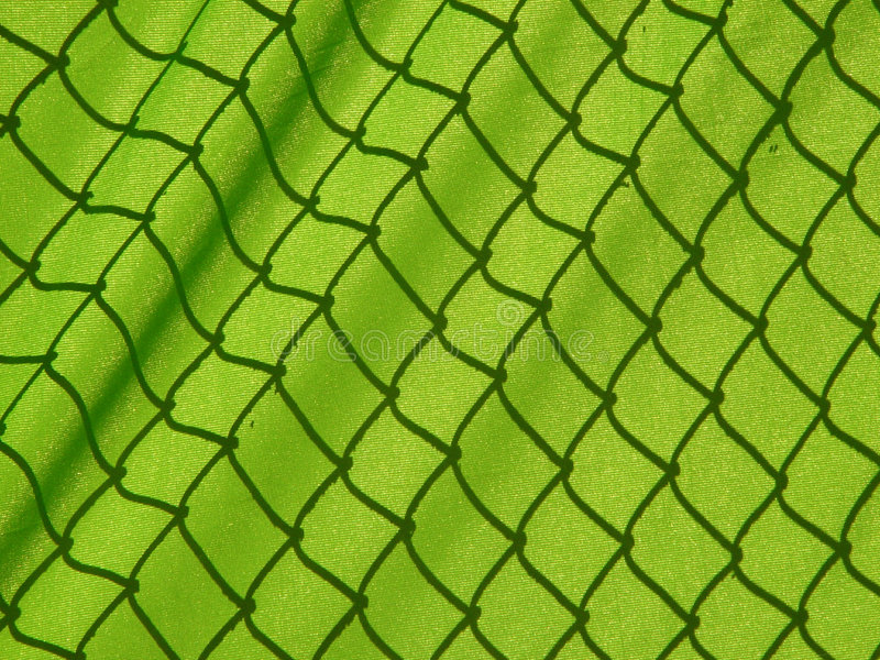 covered fence stock photo
