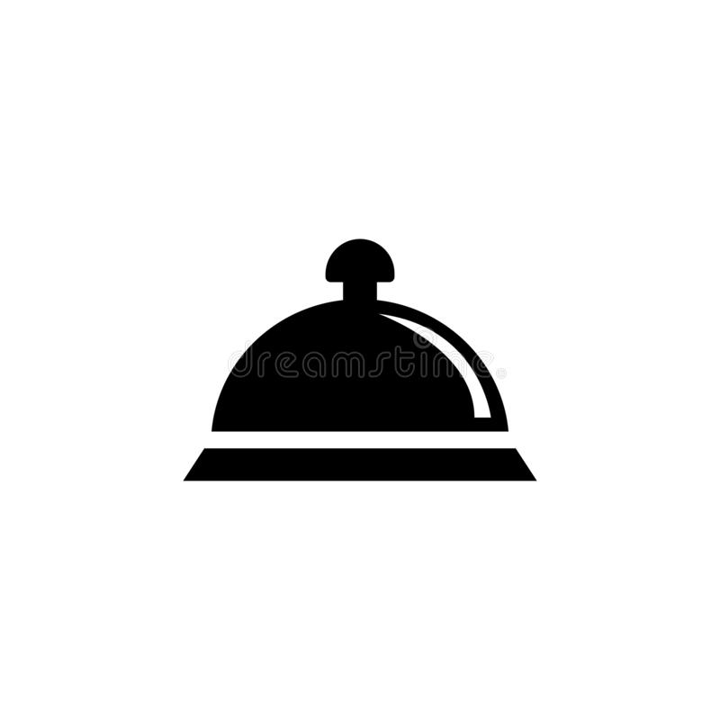 Covered Food, Dish Tray Flat Vector Icon vector illustration