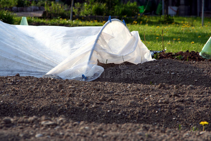 Covered garden bed royalty free stock images