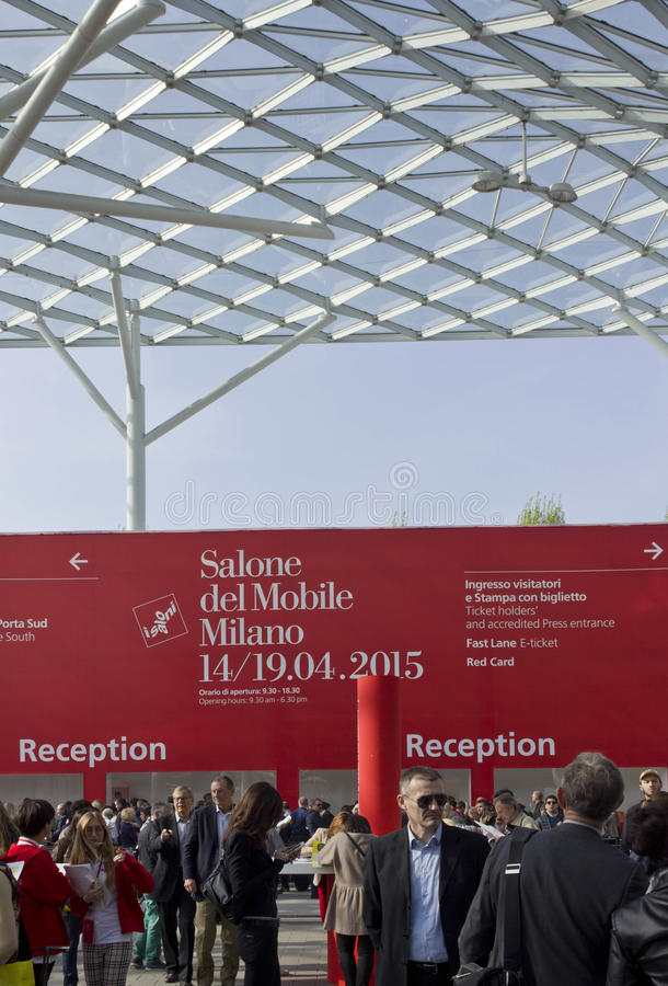 Download Covered Glass Roof Of Fiera Milano, During Salone Del Mobile Fair  In Milan Editorial
