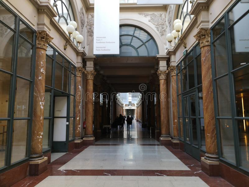 Covered passages of Paris, France. Passage Colbert. The Covered Passage of Paris are an early form of shopping arcade built in Paris, France primarily during the royalty free stock images
