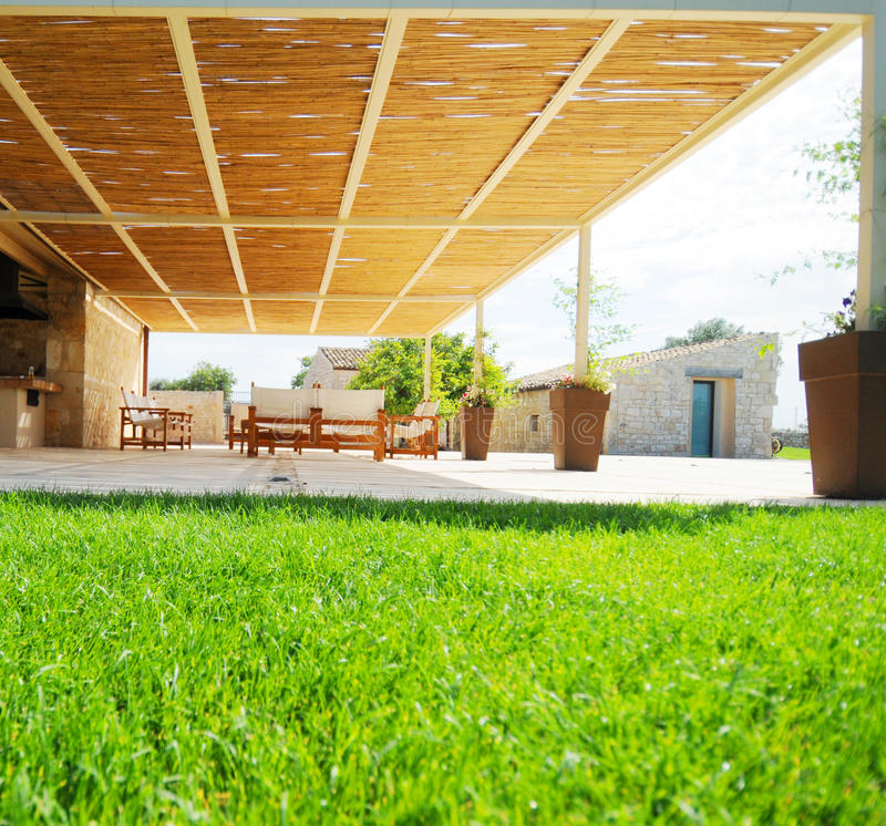 Download Covered patio or pergola stock photo. Image of architecture - 10730204