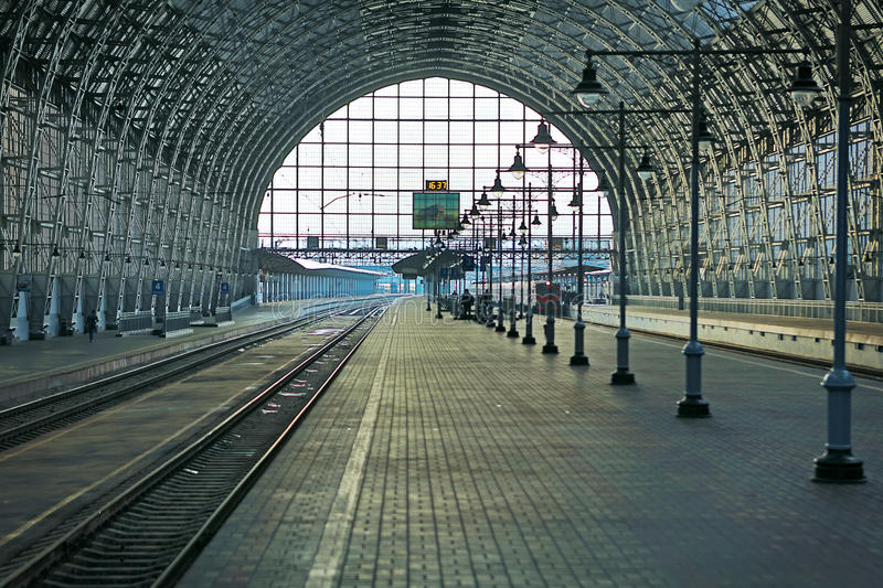 Covered railway station royalty free stock photography