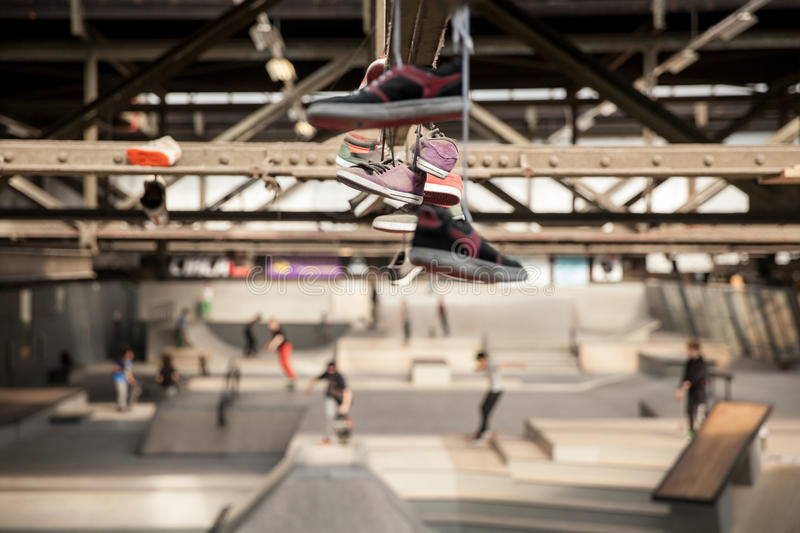 Covered skate park stock photography