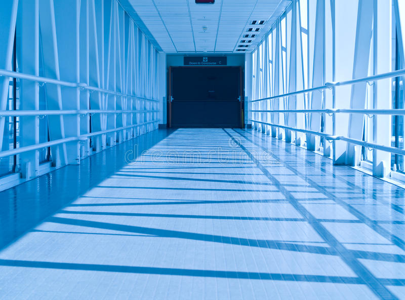 Download Covered Skywalk Tunnel stock photo. Image of empty, metal - 13757540