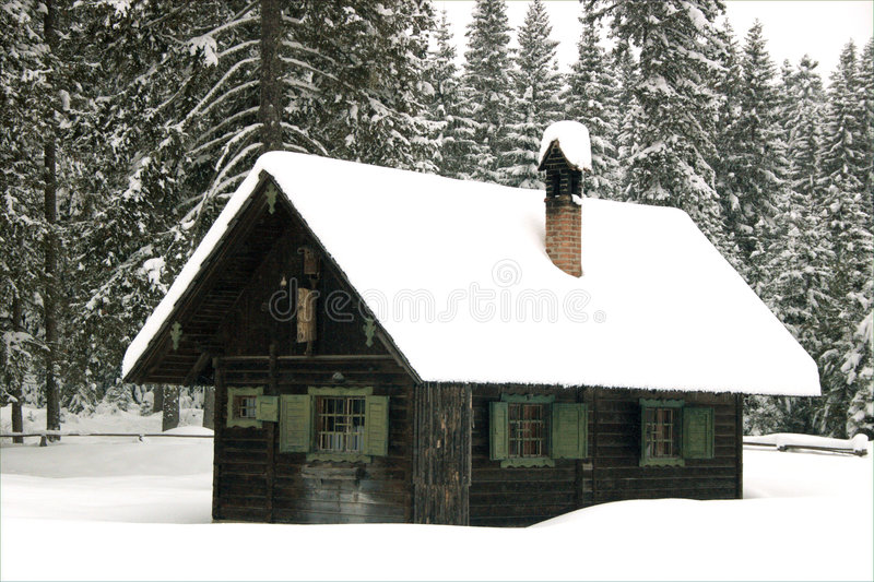 Covered with snow stock photography