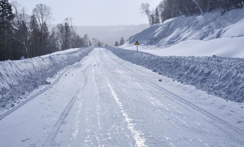 Download Covered with snow highway stock photo. Image of snow - 24154798