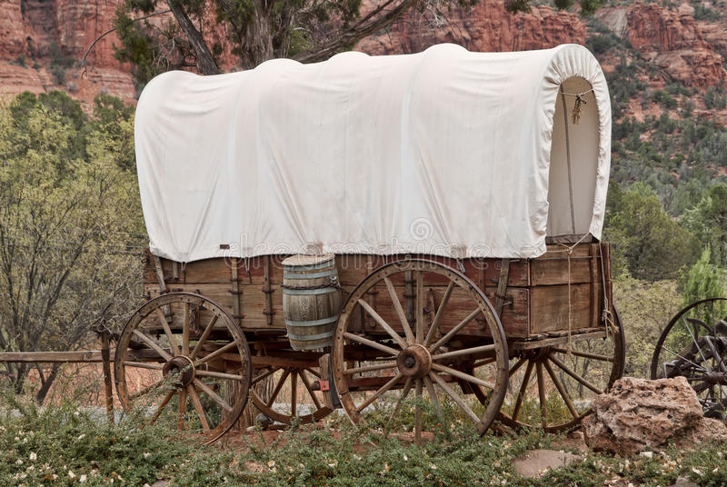Download Covered wagon stock photo. Image of wagon, barrel, canopy - 24565014