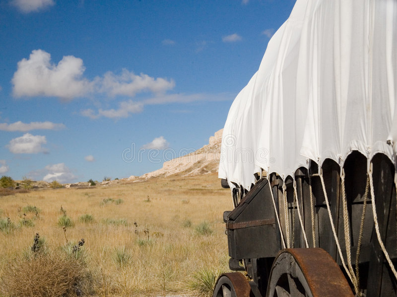 Covered Wagon stock photos