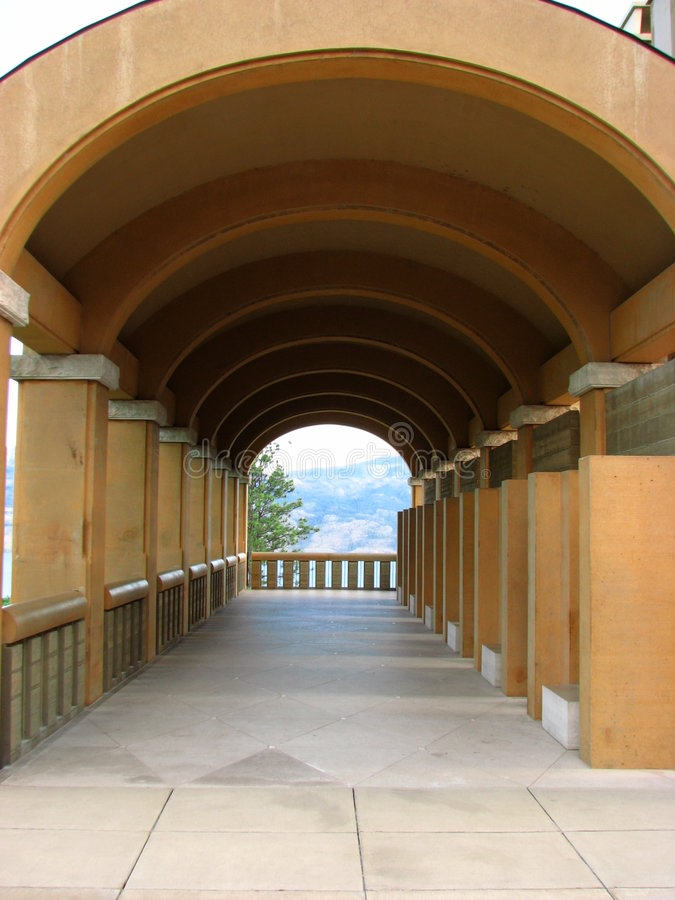 Covered walkway royalty free stock image