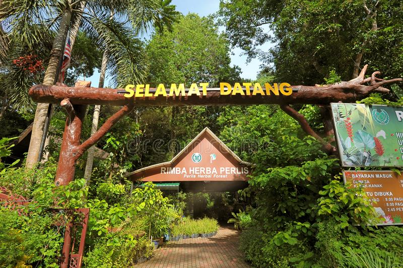 Perlis Herbal Forest. Covering 12 hectares of land, the Herb Garden should be a pit stop for tourists when they are in Perlis for vacation. A few kilometres away royalty free stock image