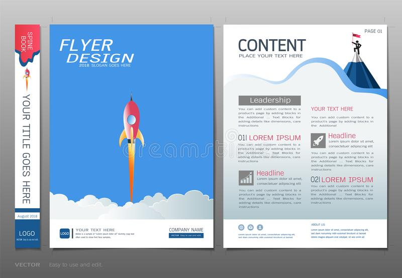 Covers book design template vector, Business engineering concepts, Use for brochure, annual report, flyer leaflet, magazine royalty free illustration