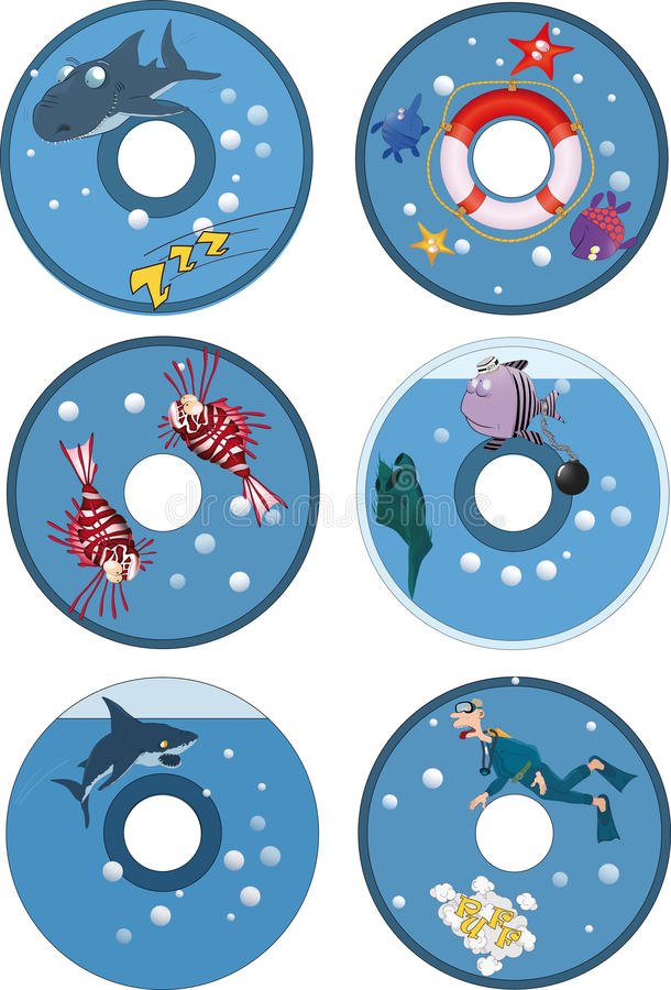 Covers disks stock images