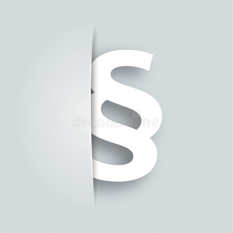 Covert Paragraph. On the gray background royalty free illustration