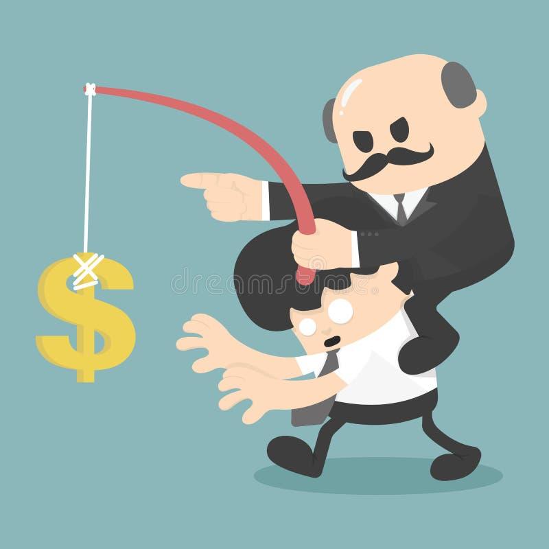 Covetousness business stock illustration