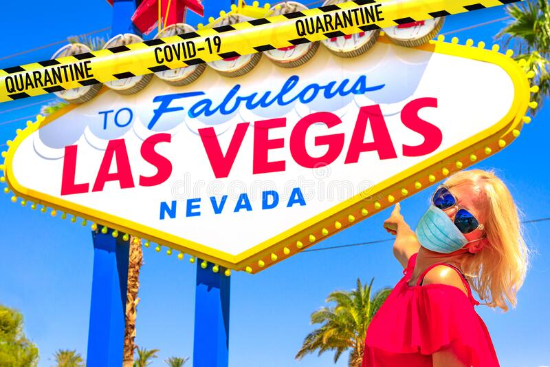 Covid-19 à Las Vegas photos libres de droits