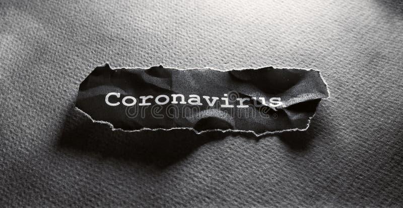 COVID-19文本标记 免版税图库摄影