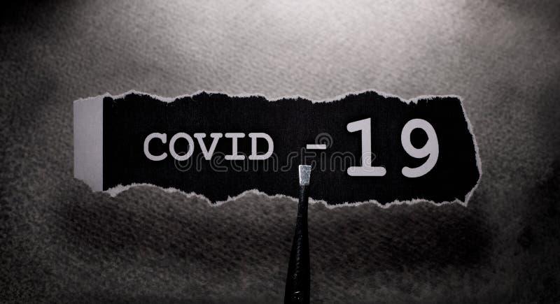 COVID-19文本标记 免版税库存图片