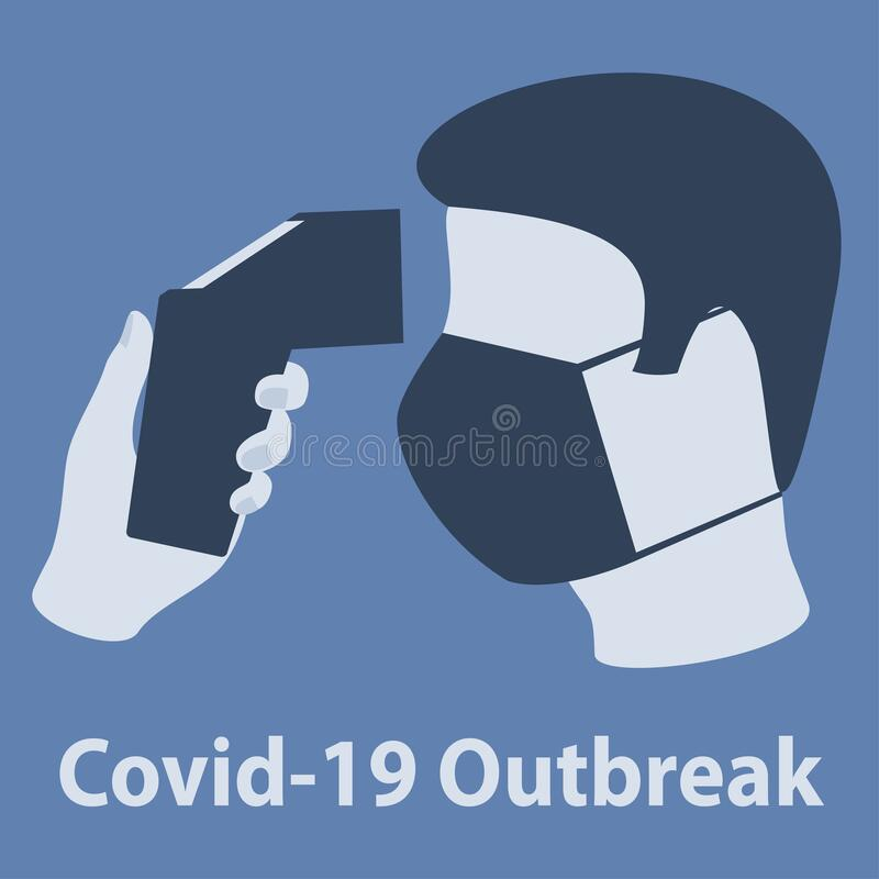 Free Covid-19 Outbreak. Body Temperature Check Sign Stock Photography - 185872912